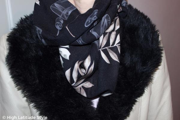 Hawaiian print silk infinity scarf